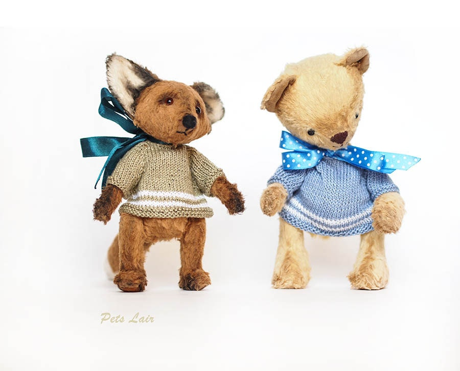 miniature knitted toys clothing Miniature clothing by PetsLair