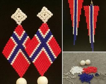 Norwegian Flag Earrings