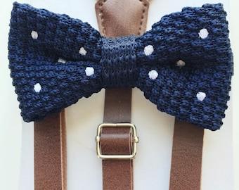 Bow Tie Suspender Set