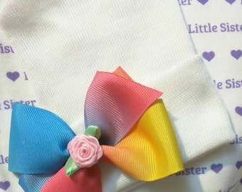 Newborn Hospital Hat! Rainbow Baby Hat! Sweet! Perfect as part of going home outfit too! Your Baby Will Be The Talk of Cuteness