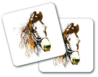 Nature Horse Design Coasters (Set of 4) (CO776)