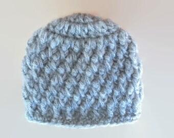 Crochet baby boy hat, mohair baby hat, newborn boy hat, baby boy hat, crochet newborn hat, baby boy beanie, crochet baby hat, gray baby hat