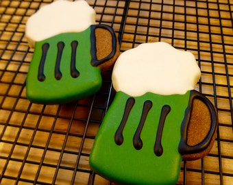 Gourmet Dog Treats: Homemade St. Patrick's Day Dog Cookies - Green Beer