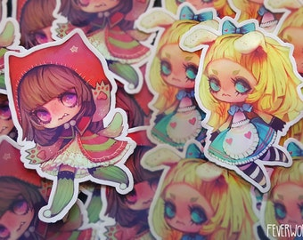 alice and little red /// illustration stickers