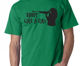 Shoot Like a Girl T-Shirt - hnt2 (85)