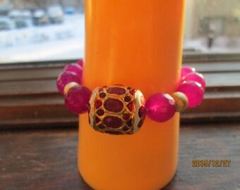 Hancrafted Artisan ~ 120.00ctw Stunning Multi-Color Purple Genuine Quartz Bracelet Wt. 40.2g