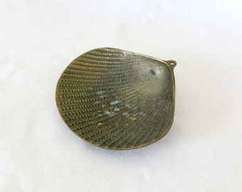 Vintage Brass Shell Dish