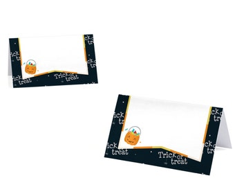 Trick or Treat - Halloween Party Place Cards - Set of 9