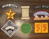 Moonrise Kingdom Iron on Khaki Scout patches