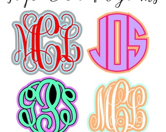 Triple Color Monogram