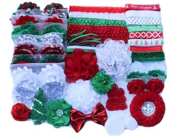 Christmas Headband Kit, Baby Shower Headband Kit, Baby Shower Headband Station, DIY Headband kit, Baby Girl Headbands, Makes 30+ Headbands