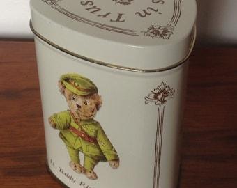 Vintage Retro Teddybears Tin. 1980's