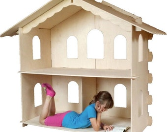 American Girl Dollhouse - Grand Lodge Wooden Dollhouse Easy to Build Yourself