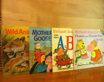 Random House Please Read to Me Childrens Books - Richard Scarry - Lot of 4 - FREE SHIPPING