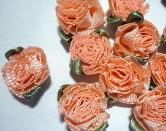 50 pcs Salmon Cabbage flower appliques craft 1 inch / 2.54 cm width best for decoration C5
