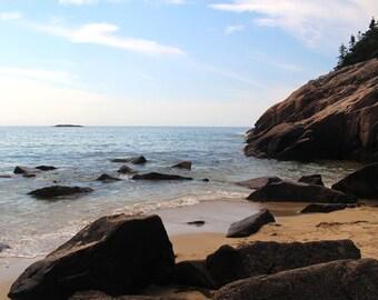 Sand Beach, Acadia National Park, Beach Photography, Ocean Art, Beach Prints, Ocean Photography, Ocean Photo, Beach Pictures, Ocean Print