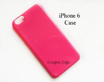 iPhone 6 Case - Plastic Case - Phone Case - Hot Pink - Phone Decoration
