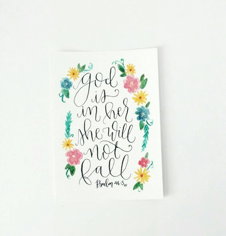 Original calligraphy verse hand lettered piece god