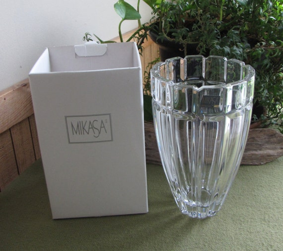 Mikasa Reflections Vase Crystal Flower Vase Discontinued