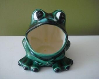 Vintage Scrubbie Holder - Frog Sponge Holder