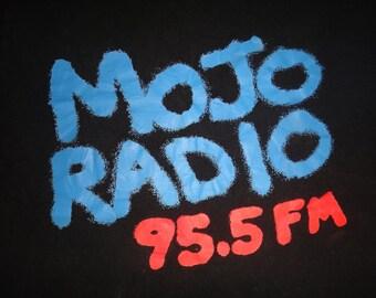 Vintage MOJO 95.5 FM Radio Channel T Shirt Screen Stars