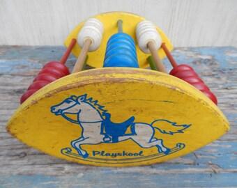 Vintage Playschool Rocking Horse Abacus!