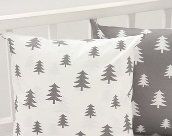Scandinavian Nordic Style Pine Tree Pattern Fabric - 2 Colors Selection