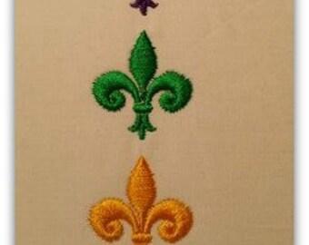 Fleur de lis Mini Designs Machine Embroidery File Instant Download