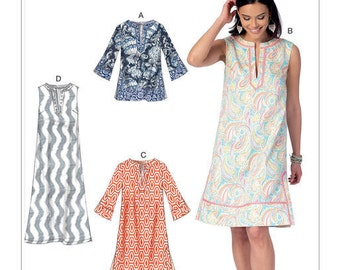 McCall's Sewing Pattern M7408 Misses' Notched Tunic and Dresses