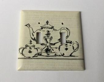 Kitchen Tea  Double Light Switch Plate