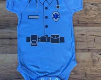 Paramedic/EMT/EMS Bodysuit (customize name badge)