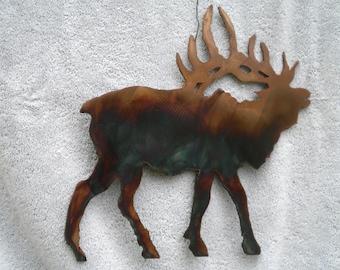 Metal Wall Art Bull Elk