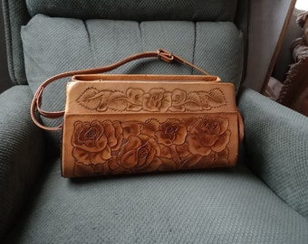 Vintage Hand Crafted Leather Purse