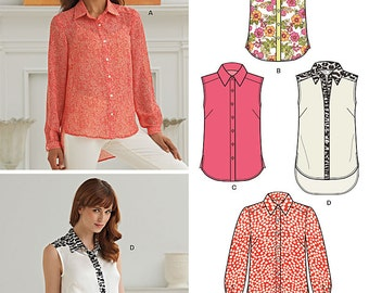 New Look Pattern 6266 Misses' Button Front Shirt