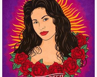 La Reina - Selena Quintanilla Art Poster