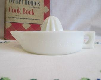 Vintage Sunkist Milk Glass Juicer Reamer
