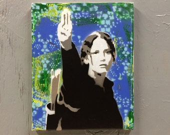 Katniss Hunger Games Painting