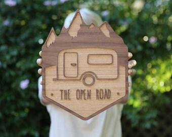 Layered Timber Original Wall Art | The Open Road