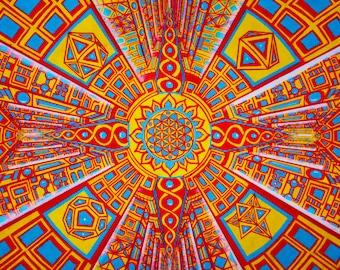 "18x12in Digital Print of ""Sacred Corridors"""