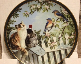 "Collector Plate ""Special Delivery"" Persis Weirs Nosy Neighbours w COA"