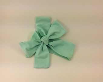 Baby headband ; mint fabric head wrap; newborn headband; baby headband; toddler headband; adult headband; girl headwrap