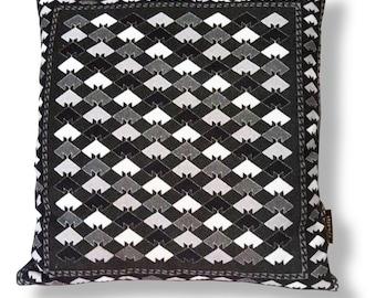 Black-white cushion cover sofa pillow MOSAIC