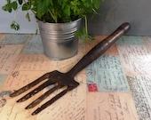 Vintage Garden Hand Fork - Gardenalia Tools Garden Tools