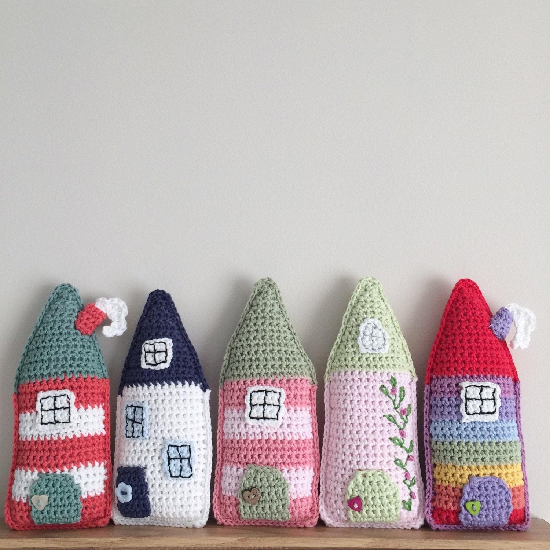 Free Crochet Patterns For The Home : Little Folk House Pdf Crochet Pattern Crochet House