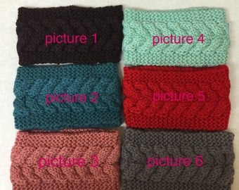 Lady's crochet headband winter woman wrap head wrap band