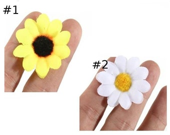 Flower heads lot of 100 peaces Artificial Gerbera sunflower Silk Flowers Heads For DIY Wedding Party Decor