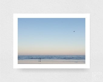 ocean beach photograph - coastal decor - sunset - surf - wall art - landscape - square prints | LARGE FORMAT PRINT