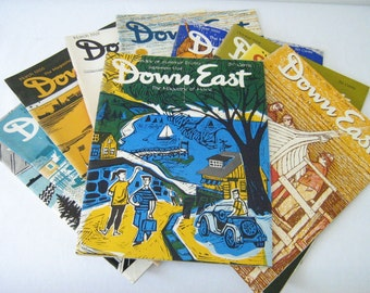 Vintage 'Downeast Magazine', collection of 9, the 'Magazine of Maine'