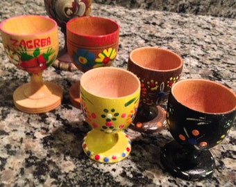 Instant Wooden Egg Cup Collection of Six