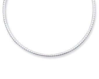 Sterling Silver 2mm Omega Cubetto Necklace Chain Lobster Clasp 16 inches CKLQU2-16